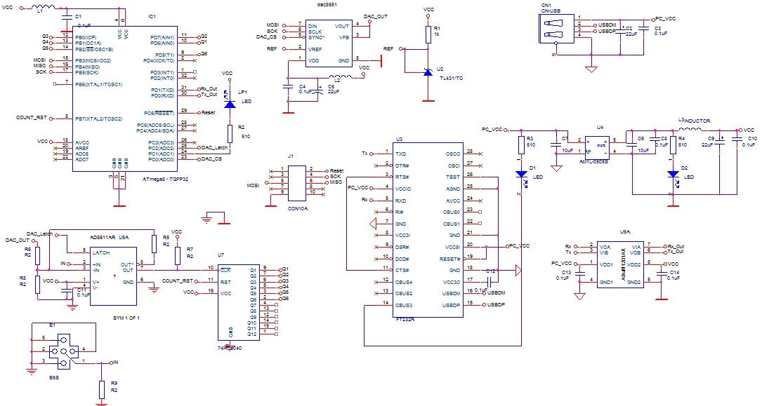помощи микросхемы FT232.